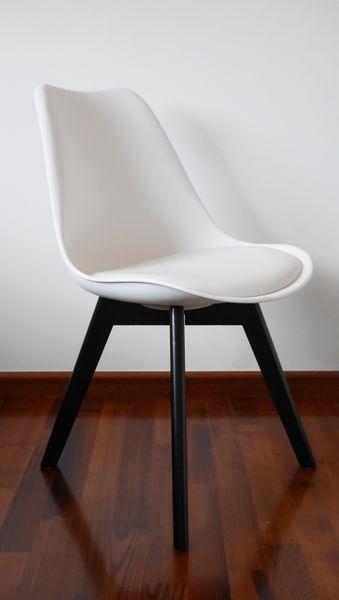 Nowoczesne krzesło 4 KOLORY nogi CZARNE DSW RETRO KRIS LUGANO na Arena.pl