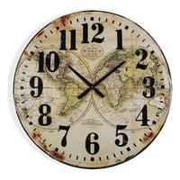 Zegar Ścienny Map World Drewno MDF (80 x 6 x 80 cm)