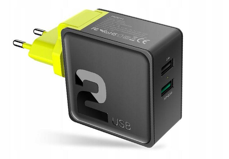 Ładowarka Sieciowa USB ROCK Quick Charge 3.0 30W zdjęcie 1
