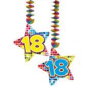 dekoracja wisząca świderki 18 URODZINY disco stars