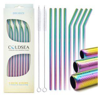 Metalowe Słomki Ekologiczne do picia eco stal COLDSEA 200*6mm