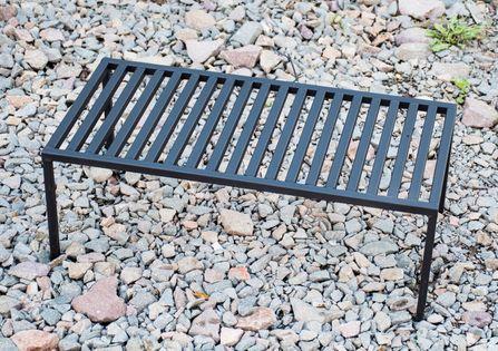 Mały grill kempingowy turystyczny przenośny ruszt na nóżkach 60X30CM