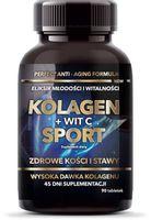 Kolagen + Witamina C Sport suplement diety 90 tabletek