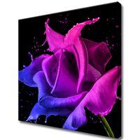 Obraz Na Ścianę 50X50 Róża Z Farb Abstrakcja Kolo