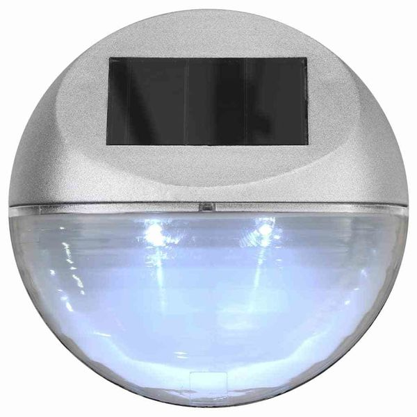 ścienne Lampy Solarne Led Na Zewnątrz 12 Sztuk Okrągłe