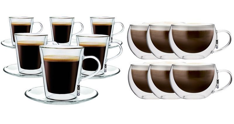 Szklanki z Podwójną Ścianką do Kawy Herbaty Lungo i Cappucino 12 sztuk zdjęcie 1