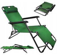 Fotel Ogrodowy składany leżak Mocny plażowy 3 pozycyjny D152