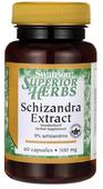 Cytryniec chiński ekstrakt owoce 500mg Schizandra Extract 60 kapsułek SWANSON