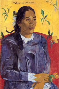 Reprodukcja obrazu Woman with a Flower - Paul Gauguin Rozmiar - 60x40