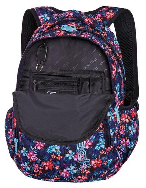 3530958cac068 Plecak CoolPack PRIME kwiatki na ciemnym tle, TROPICAL BLUISH + gratis  (90674CP) zdjęcie