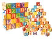 Drewniane klocki z alfabetem ABC