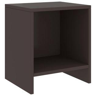 Lumarko Szafka nocna, ciemny brąz, 35x30x40 cm, lite drewno sosnowe