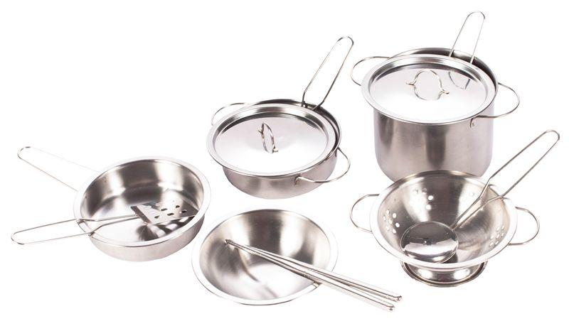 Garnki metalowe dla dzieci akcesoria kuchenne zestaw 14 elementów U30 zdjęcie 6