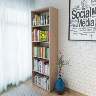 Regał na książki, dąb, 60 x 31 x 190 cm