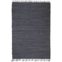 Ręcznie tkany dywanik chindi, bawełna, 160x230 cm, antracytowy