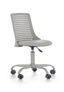 Fotel do biurka PURE dla dziecka SZARY obrotowy