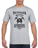 Koszulka męska NAJLEPSZY GORNIK NA SWIECIE s XL