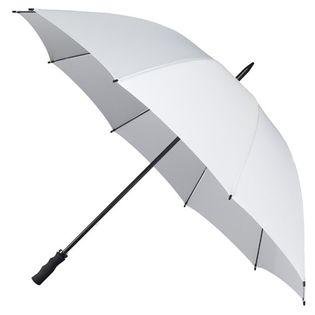 Bardzo duża, wytrzymała parasolka w kolorze białym, ślubna