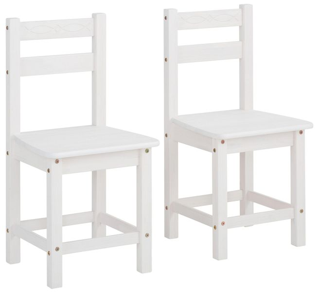 Ponadczasowe, sosnowe krzesła w kolorze białym - 6 sztuk zdjęcie 1
