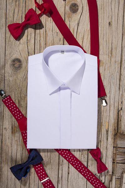 Biała koszula komunijna, krótki rękaw. 86 zdjęcie 6