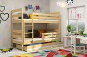 Łóżko piętrowe Eryk 200x90 dla dzieci drewniane meble dziecięce zdjęcie 4