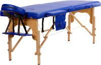 Stół, łóżko do masażu 2-segmentowe drewniane