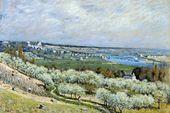Reprodukcje obrazów The Terrace at Saint-Germain, Spring - Alfred Sisley Rozmiar - 90x60