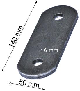 Marka montażowa, Blacha montażowa, Płytka montażowa 140x50x6 mm