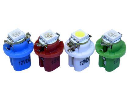 żarówka LED T5 SMD w oprawie B8.5D zamiennik w1,2w w2,3w 12v kolory