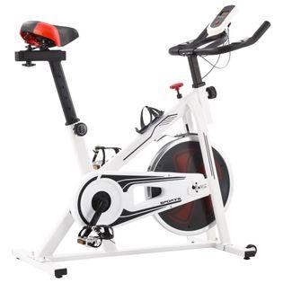 Rower Spinningowy Do Ćwiczeń, Z Pomiarem Pulsu, Biało-Czerwony