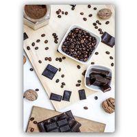 Wydruk na metalu, Kawa czekolada orzechy 30x40