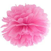 POMPON bibułowy 35 cm RÓŻOWY róż pompony dekoracja