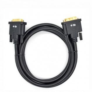 TB Kabel DVI M-M 24+1 1.8 m. czarny, pozłacany