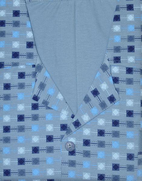 Piżama Luna 797 dł/r 3XL-4XL Rozpinana męska Niebieski 3XL na Arena.pl