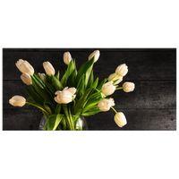 OBRAZ DRUKOWANY  Kremowe tulipany 115x55