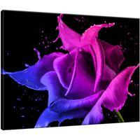 Obraz Na Ścianę 40X30 Róża Z Farb Abstrakcja Kolo