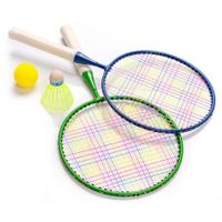 Zestaw do Badmintona Meteor Junior Enjoy 2 rakietki zielona niebieska 15040