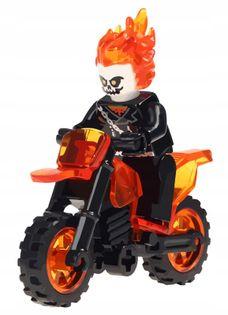 MEGA figurka Ghostrider + motor +karta lego PL