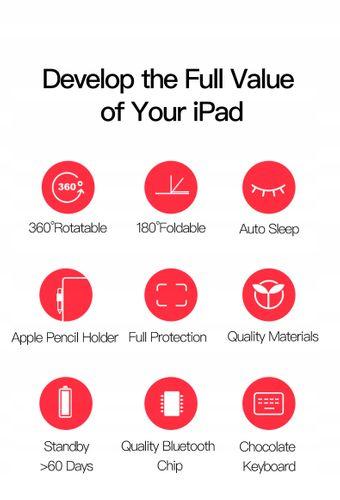 Etui Klawiatura Bluetooth do iPad Air 1/2, iPad 9.7 2017, iPad 2018 na Arena.pl