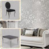 Jadalnia glamour Classico Nero - blat kamienny - 150 x 90 x 75; 6