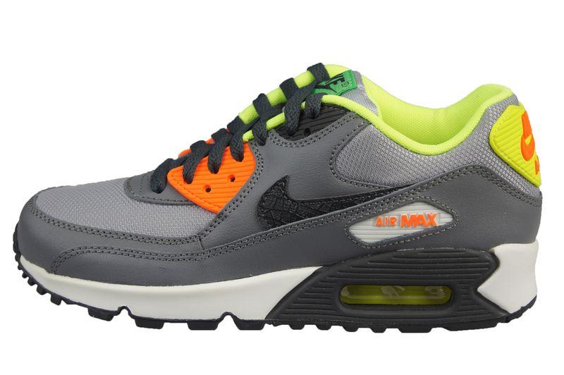 Nike Air Max 90 Gs 705499 002 | Czarny, Pomarańczowy, Szary