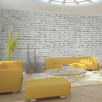 Fototapeta XXL - Ściana z białej surowej cegły Rozmiar - 550x270