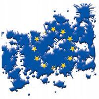 NAKLEJKA NA SAMOCHÓD AUTO MAPA EUROPY UE GRANATOWA