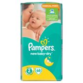 Pieluchy Pampers New Baby-Dry 2 Mini 68 sztuk