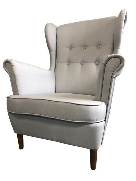 Inne rodzaje Fotel Uszak nowoczesny tapicerowany nóżki drewniane PRODUCENT HT69