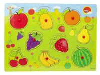 Układanka Puzzle Drewniane Dopasuj Kształty Owoce