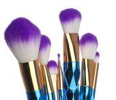Pędzle do makijażu 7sztuk brylantowe iko