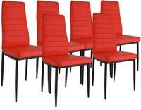 Zestaw 6 krzeseł Dankor Design brand czerwony