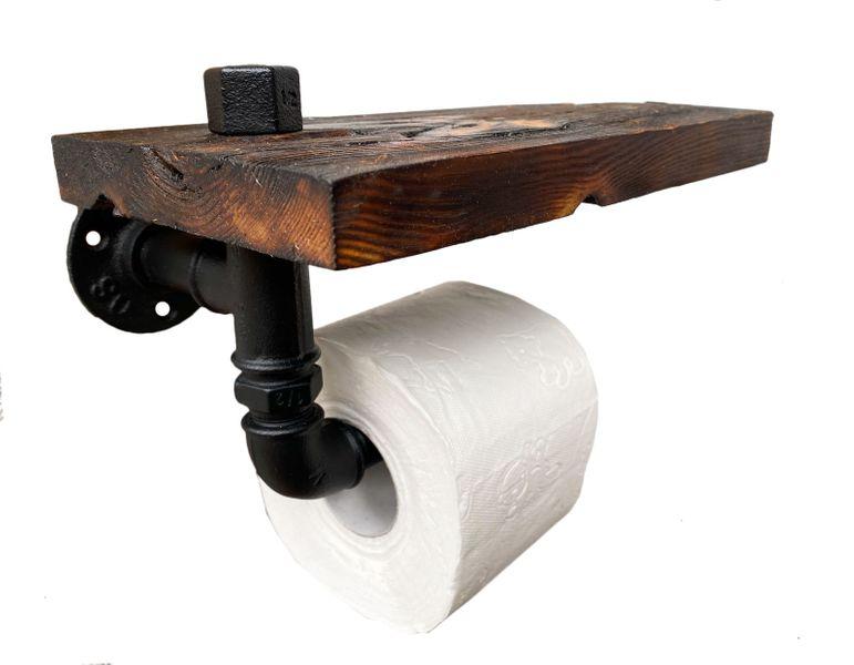 Uchwyt na papier toaletowy z półką industrial loft na Arena.pl