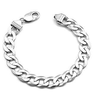 Bransoleta srebrna rodowana gruba pancerka 22 cm